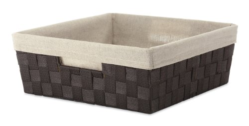 Whitmor Woven Strap Shelf Tote w/Liner (Shelf Basket)