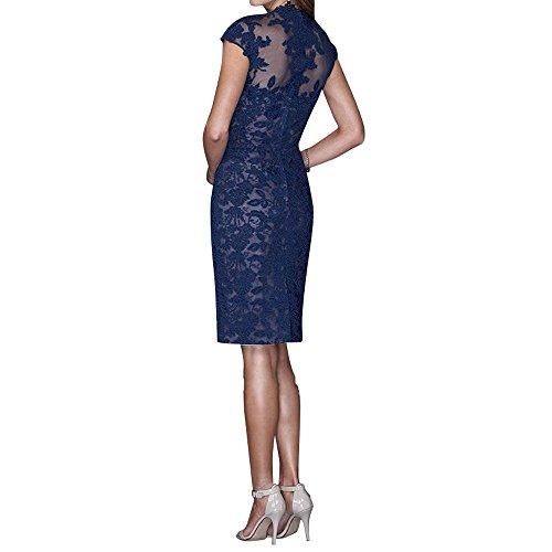 Formalkleider Abendkleider Tinte Brautmutterkleider Promkleider Blau Knielang Spitze Festlichkleider Etuikleider Kurzes La mia Brau qpSvZ