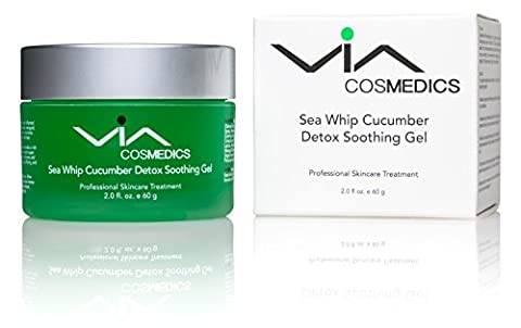 Sea Whip Cucumber Soothing & Hydrating Gel | Detox Gel Mask Enhanced with Hyaluronic Acid, Green Tea, Argan Oil, Botanical Extracts | Cools, Calms, and Heals | Professional Skincare - Hydra Intense Hydrating Gel Mask