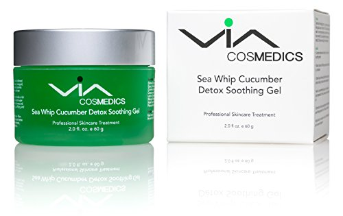 Sea Whip Cucumber Soothing & Hydrating Gel | Detox Gel Mask Enhanced with Hyaluronic Acid, Green Tea, Argan Oil, Botanical Extracts | Cools, Calms, and Heals | Professional Skincare Treatment