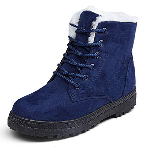 Tamaño Mujer Para Martin Azul Liangxie Grande Algodón Invierno Botas Nieve Zapatos De Boots Coreana Versión Cálidas Piso Y nxxwXZ4vI