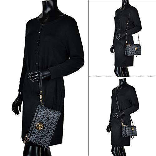 Bag Clutch tan Wallet Wristlet Shoulder Wallet Convertible Purse signature Multi Crossbody pocket 5783 Travel a6YqqBT
