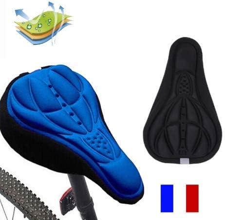 SIMPLISIM: Funda de sillín de Bicicleta cómoda y cómoda 3D para Bicicleta de montaña, Gel de Silicona, Rojo: Amazon.es: Deportes y aire libre