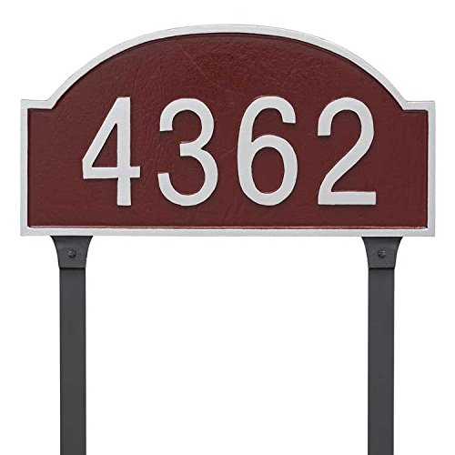 (Comfort House Metal Address Plaque Personalized For Lawn Mount. Display your house number. Custom house number sign 67813F3.)