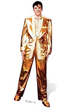 SC318 Elvis Presley Gold Lame Cardboard Cutout Standup by Star Cutouts LLC