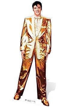 (SC318 Elvis Presley Gold Lame Cardboard Cutout)