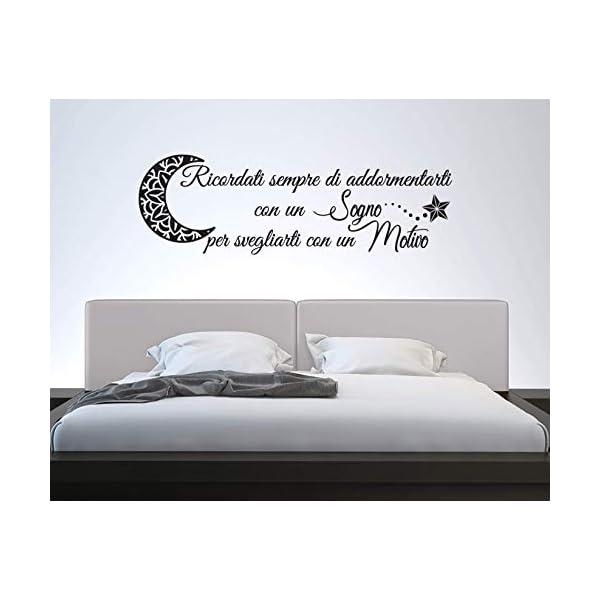 Adesivi Murali Frase Buonanotte Decorazioni Da Parete Camera Da Letto Wall Stickers Di Arredi Murali Prodotti Fatti A Mano