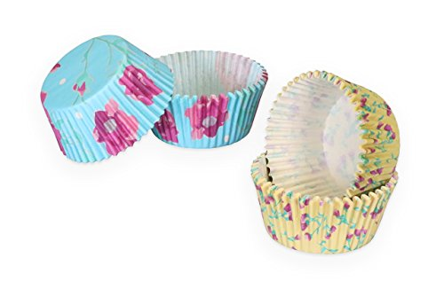 Fanci Baking by Captivate Brands FN60CC2 Liners Cupcake Wrapper, One Size, Fanci Floral