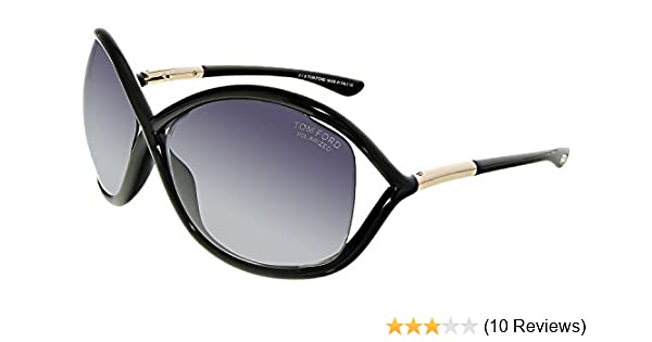 ce156803500 Amazon.com  Tom Ford TF 9 Whitney 01D Black Women s Polarized Sunglasses   Clothing