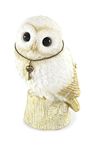 - Comolife Lucky Motif Piggy Bank , Cute Owl , Color: White And Gold , Natural Design