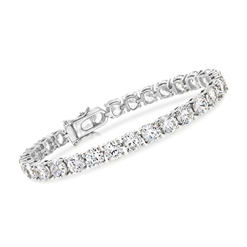 Ross-Simons 23.00 ct. t.w. CZ Tennis Bracelet in Sterling Silver