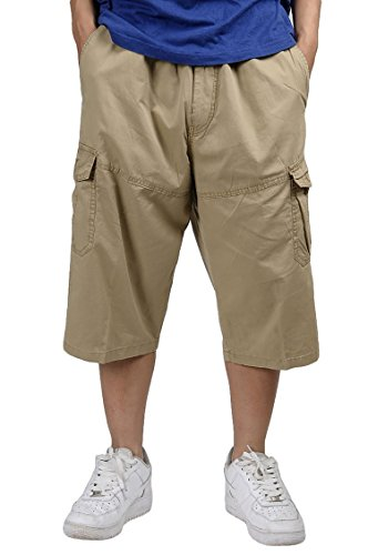 Pangy Mens Weekend Expandable-Waist Classic-Fit Walk Shor...
