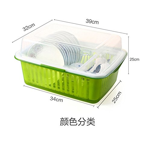 ZEM-PXD Plastic Tableware Tableware Kitchen Draining Rack Wi