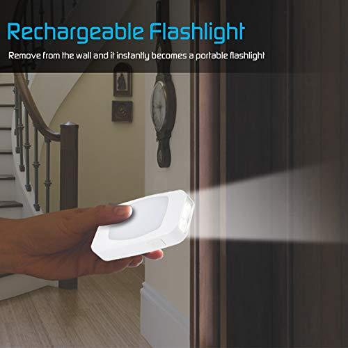 Energizer 4-in-1 LED Power Failure Night Light, Plug-in, Light Sensing, Auto On/Off, Foldable Plug, 40 Lumens, Soft White, Emergency Flashlight, Tabletop Light, Hurricane, Storm, Tornado (1 Pack)