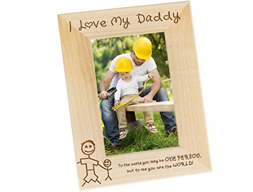 I Love My Daddy Wood Photo Frame - Fathers Day Gift Picture Frame, Dads Birthday Present, Gifts for Dad From Kids, WF32 (4