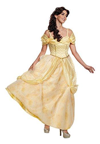 UHC Ultra Prestige Belle Outfit Disney Princess Fancy Dress Halloween Costume, M (8-10)