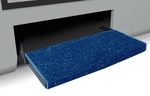 Prest-O-Fit 2-1051 RV Trailer Camper Jumbo Wraparound + Plus Step Rug Imperial Blue ()