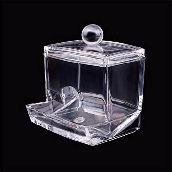 Wonderful Partical Charming Clear Acrylic Q Tip Holder Box Cotton Swabs Stick Storage  Cosmetic Makeup Case