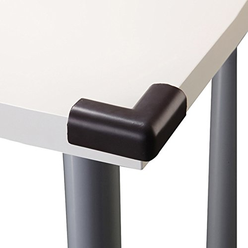 Baby Mate 12 PCS Extra Dense & Soft Baby Safety Table Corner Protectors (Brown, 12 PCS) 1024