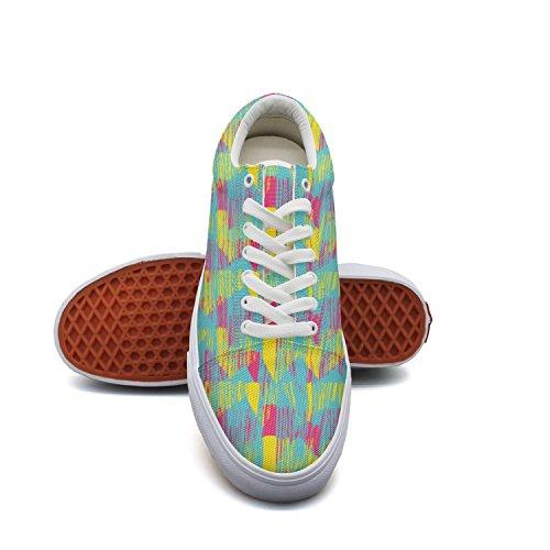 QJSY Boys Fashion Canvas Sneaker Littery Stripe Low Cut Canvas Sports (Outdoor Pasta Alfredo)