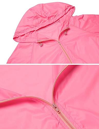 À Pluie Pour Rose Femme Chic Solaire Poche Protection Veste Mignon Fonctionnelle Étanche Respirant De Capuche Softshell Vêtements EqxEtwY7ra
