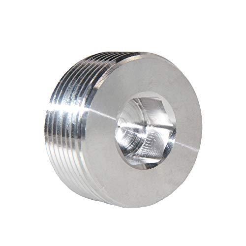 Joywayus Stainless Steel Internal Hex Countersunk Thread Socket Pipe Plug 1 1/2
