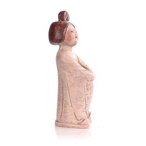 The Palace Museum Cultural Products Toothpick Holder Painted Ancient Chinese Woman Figurine Brown Color Suitable Both for Home Use and Unique Gift (Woman)