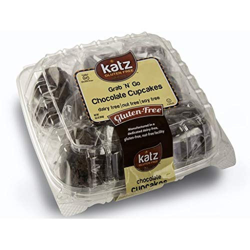 (Katz Gluten Free Individually Wrapped GRAB N' GO Chocolate Cupcakes | Dairy, Nut, Soy and Gluten Free | Kosher (1 Pack of 8 Cupcakes, 16.5 Ounce))