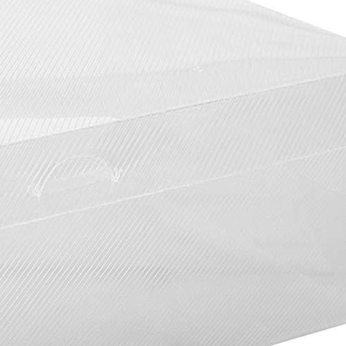 Pudincoco PP Cajas de Zapatos de pl/ástico Organizador de Almacenamiento Universal Apilable Ahorre Espacio Flip Tipo Caj/ón Caja para Zapatillas Sandalias Calzado Deportivo Blanco