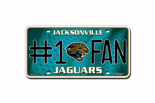 NFL Jacksonville Jaguars #1 Fan Metal Auto Tag (Plate Jaguars Jacksonville)