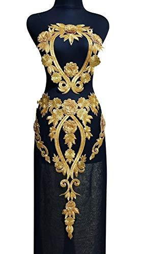 (WUBU Lace Neckline Trim Applique Embroidery Patch Motif Embellishments Decorative Patches)