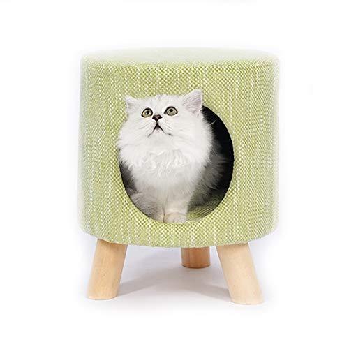 YOCC Katze Kätzchen Bett Korb 2 in 1 Welpen Schlafhöhle Home Hocker Soft Dual-Use-Katzennest Warm House Teddy Doggie…