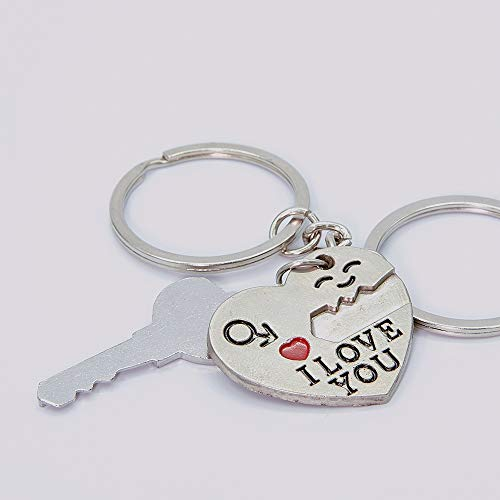 A Pair Couple Keychain - My Heart Will Go On, You are My Only Love.The Key to My Heart Couple Keychain, The Best Gift for Love. ()