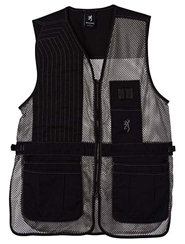 Browning Trapper Creek Shooting Vest-Gray (2X, Right)