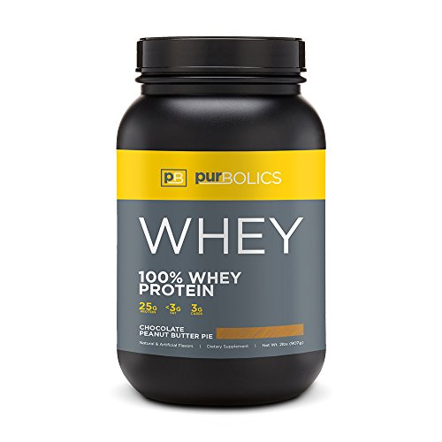 Purbolics Protein | 100% Whey Protein | Build Lean Muscle & Improve Recovery | 25g Protein | 28 Servings | (Chocolate Peanut Butter Pie)
