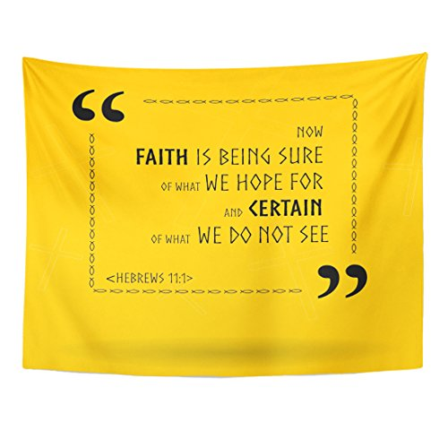 Breezat Tapestry Verse Best Bible Quotes About Faith Holy Scripture Sayings Biblical Home Decor Wall Hanging for Living Room Bedroom Dorm 60x80 Inches by Breezat