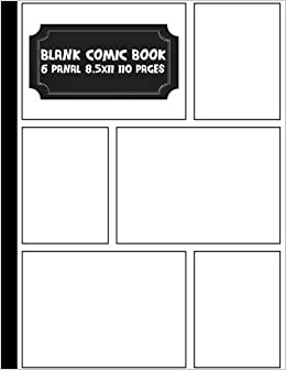 Comic Book Pages - 8.5x11 with 7 panel Over 100 pages(Blank Comic ...