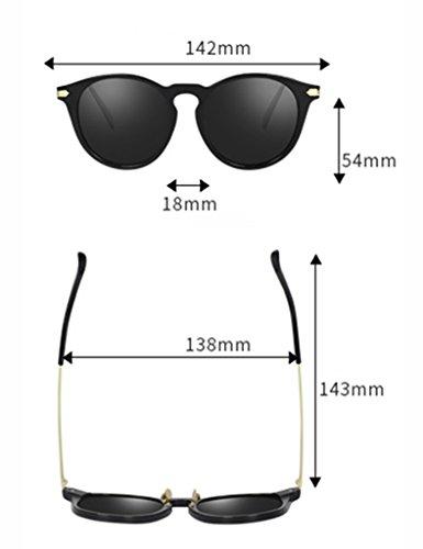 Soleil de Driver Eye Polarized D A Soleil Personnalité Lunettes Glasses Lunettes Couleur de Ms Retro IdgBnq