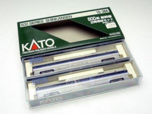 (Kato 10-384 500 Series Shinkansen (Bullet Train), 2 Car Add-On Set (N Scale))