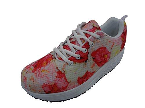 Femmes Chaussures De Marche Des Animaux Doux Casual Swing Chaussures Chien Fitness Coin Chaussures Lace Up Dames Motif 10