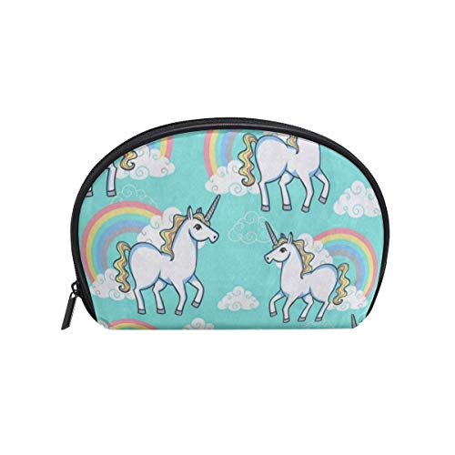 - Toiletry Bag Cartoon Unicorn Rainbow Cloud Womens Beauty Makeup Case Brush Cosmetic Organizer