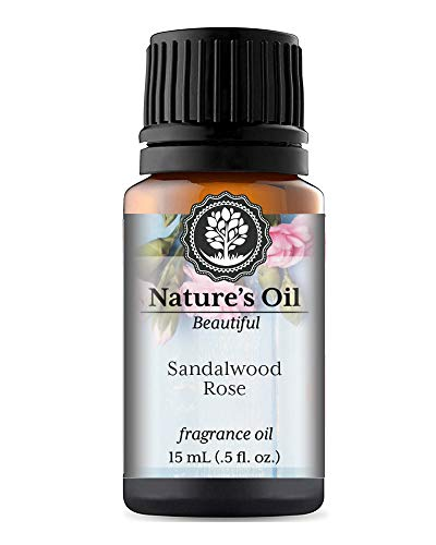 Sandalwood Rose Fragrance Oil (15ml) For Perfume, Diffusers, Soap Making, Candles, Lotion, Home Scents, Linen Spray, Bath Bombs, Slime