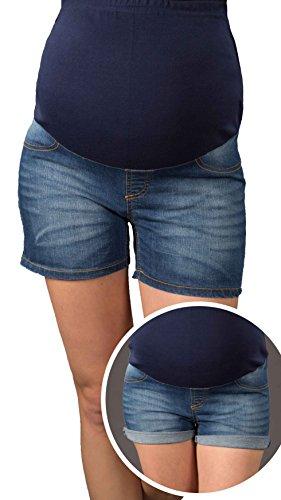 Di Umstandsshorts Con Estate Per Wash Jeans Banda 9037 Maternità Pancia Mija pantaloni Corti Dark qE4wI6