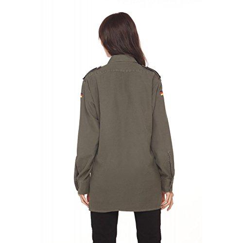 Pocket Militare Camicia Trashdeluxe Con Verde Petal 4xXqqFEwO