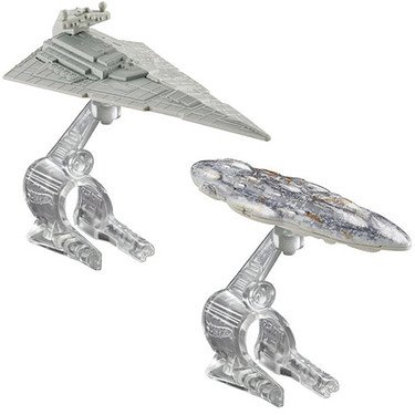 Hot Wheels Star Wars Starship Star Destroyer vs. Mon Calamari Cruiser Vehicle (Star Wars Star Ship)