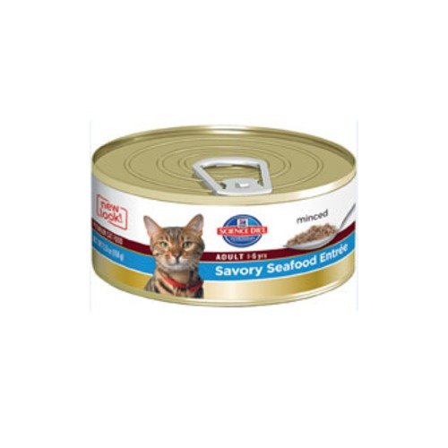 Hill's Science Diet Adult Minced Savory Seafood Entree Canned Cat Food