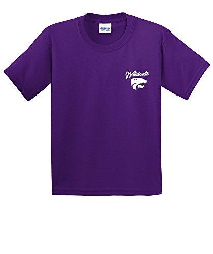 NCAA Kansas State Wildcats Girls Cheer Loud Short Sleeve Cotton T-Shirt, Youth Small,Purple