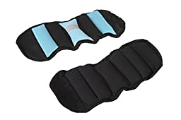 Ultimate Fitness Ankle/Wrist Weights - 5 Lbs (Light Blue) - Each Ankle/Wrist Weights = 2.5lbs