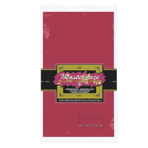 Masterpiece Plastic Rectangular Tablecover (burgundy) Party Accessory  (1 count) (1/Pkg)