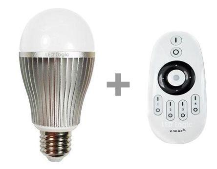 Mando a distancia LED Logic E27 doble blanco de intensidad regulable bombilla LED (2,